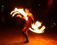 Fire Fan Dance